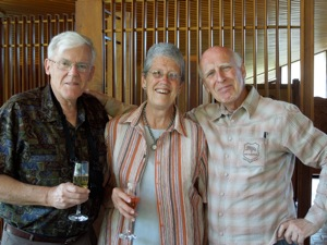Johan and Cecile de Villiers with Willem Malherbe