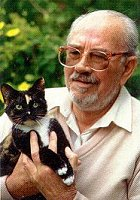 Hubert du Plessis with cat