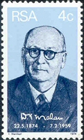 D F Malan commemorative stamp