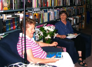13 March 2010 at Protea Boehuis: ina Spies and Alida Potgieter talk about